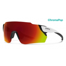 Attack Max Matte White ChromaPop Sun Red Mirror by Smith Optics