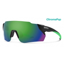 Attack Max Matte Black ChromaPop Sun Green Mirror by Smith Optics