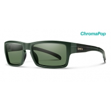 Outlier Matte Olive Camo ChromaPop Polarized Gray Green by Smith Optics in Little Rock Ar