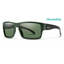 Outlier XL Matte Olive Camo ChromaPop Polarized Gray Green by Smith Optics