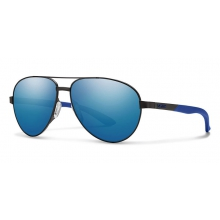 Salute Matte Black Blue Mirror by Smith Optics