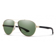 Salute Matte Gold Polarized Gray Green by Smith Optics
