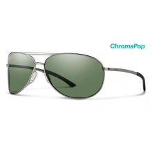 Serpico 2.0 Gunmetal ChromaPop Polarized Gray Green by Smith Optics