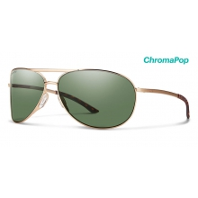 Serpico 2.0 Matte Gold ChromaPop Polarized Gray Green by Smith Optics in Homewood Al