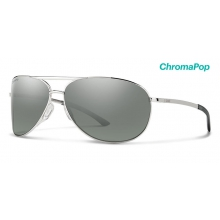 Serpico 2.0 Silver ChromaPop Polarized Platinum by Smith Optics in Chino Ca