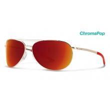 Serpico Slim 2.0 Gold ChromaPop Sun Red Mirror by Smith Optics