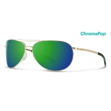 Serpico Slim 2.0 Gold ChromaPop Sun Green Mirror by Smith Optics