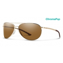 Serpico Slim 2.0 Gold ChromaPop Polarized Brown by Smith Optics in Chino Ca