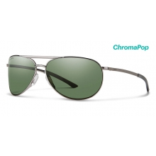 Serpico Slim 2.0 Gunmetal ChromaPop Polarized Gray Green by Smith Optics