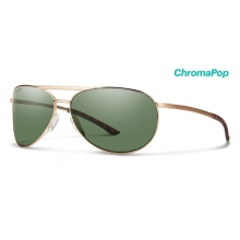 Serpico Slim 2.0 Matte Gold ChromaPop Polarized Gray Green by Smith Optics in Bentonville Ar