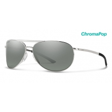 Serpico Slim 2.0 Silver ChromaPop Polarized Platinum by Smith Optics in Chino Ca