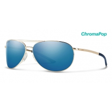 Serpico Slim 2.0 Gold ChromaPop Polarized Blue Mirror by Smith Optics
