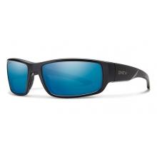 Survey Matte Black Polarized Blue Mirror by Smith Optics