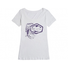 Wanderlust Women's T-Shirt Heather White Medium by Smith Optics
