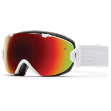 I/OS White Eclipse Red Sol-X Mirror by Smith Optics