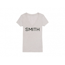 Distilled Women's T-Shirt White Heather Large by Smith Optics