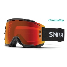 Squad MTB Black ChromaPop Everyday Red Mirror by Smith Optics