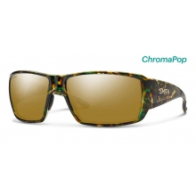 Guide's Choice Flecked Green Tortoise ChromaPop Polarized Bronze Mirror by Smith Optics