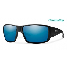 Guide's Choice Matte Black ChromaPop Polarized Blue Mirror by Smith Optics in Salmon Arm Bc