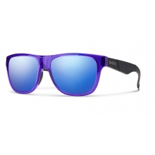 Lowdown Slim Crystal Ultraviolet - Matte Black Blue Flash Mirror by Smith Optics
