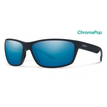 Redmond Matte Black ChromaPop Polarized Blue Mirror by Smith Optics in Charleston Sc