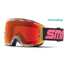 Squad MTB Clear Archive 1990 ChromaPop Everyday Red Mirror by Smith Optics