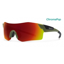 PivLock Arena Matte Olive Black ChromaPop Sun Red Mirror by Smith Optics