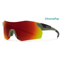PivLock Arena Max Matte Olive Black ChromaPop Sun Red Mirror by Smith Optics