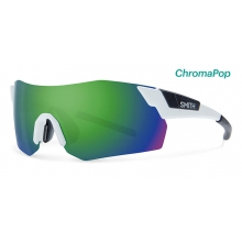 PivLock Arena Max Matte White ChromaPop Sun Green Mirror by Smith Optics