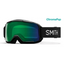 Grom Asian Fit Black ChromaPop Everyday Green Mirror by Smith Optics