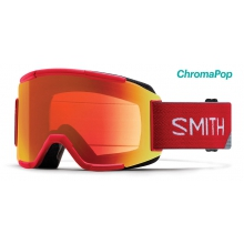 Squad Fire Split ChromaPop Everyday Red Mirror by Smith Optics
