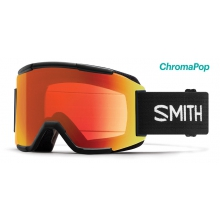 Squad Asian Fit Black ChromaPop Everyday Red Mirror by Smith Optics