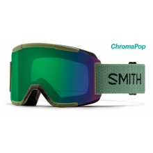 Squad Asian Fit Olive ChromaPop Everyday Green Mirror by Smith Optics