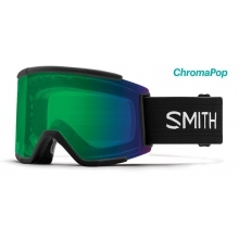Squad XL Black ChromaPop Everyday Green Mirror by Smith Optics