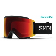 Squad XL Black ChromaPop Sun Red Mirror by Smith Optics