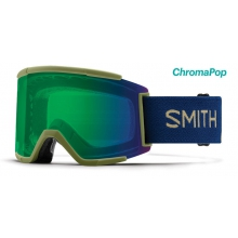 Squad XL Navy Camo Split ChromaPop Everyday Green Mirror by Smith Optics