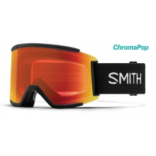 Squad XL Asian Fit Black ChromaPop Everyday Red Mirror by Smith Optics
