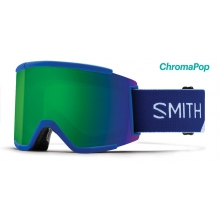 Squad XL Asian Fit Klein Blue Split ChromaPop Sun Green Mirror by Smith Optics