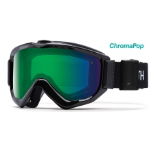 Knowledge Turbo Black ChromaPop Everyday Green Mirror by Smith Optics in Truckee Ca