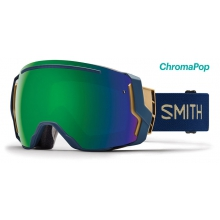 I/O 7 Navy Camo Split ChromaPop Sun Green Mirror by Smith Optics