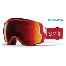 I/O 7 Asian Fit Fire Split ChromaPop Sun Red Mirror by Smith Optics in Seward Ak