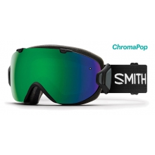 I/OS Asian Fit Black ChromaPop Sun Green Mirror by Smith Optics