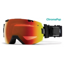 I/OX Turbo Fan Black ChromaPop Everyday Red Mirror by Smith Optics