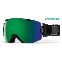I/OX Turbo Fan Asian Fit Black ChromaPop Sun Green Mirror by Smith Optics