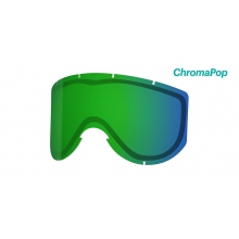 Knowledge Turbo Fan Replacement Lenses Knowledge Turbo ChromaPop Everyday Green Mirror by Smith Optics