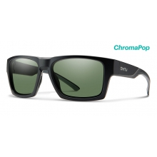 Outlier XL 2 Matte Black ChromaPop Polarized Gray Green by Smith Optics