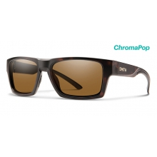 Outlier 2 Matte Tortoise ChromaPop Polarized Brown by Smith Optics