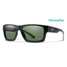 Outlier 2 Matte Black ChromaPop Polarized Gray Green by Smith Optics