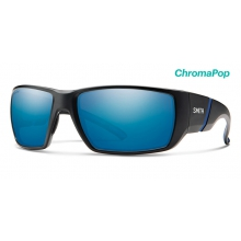 Transfer XL Matte Black ChromaPop Polarized Blue Mirror by Smith Optics in Chino Ca