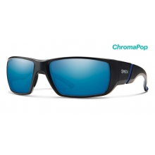 Transfer Matte Black ChromaPop Polarized Blue Mirror by Smith Optics